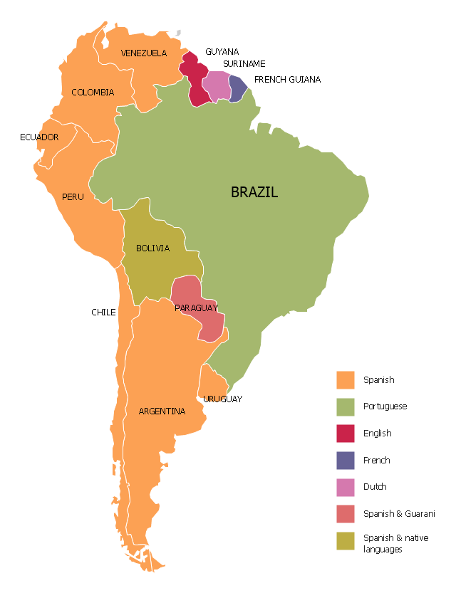 Languages Of South America Thematic Map Geo