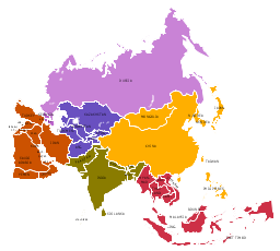 political map asia