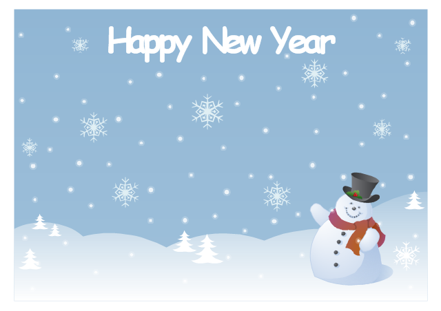 new year card snowman