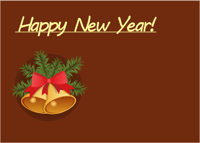 new year card christmas bells template