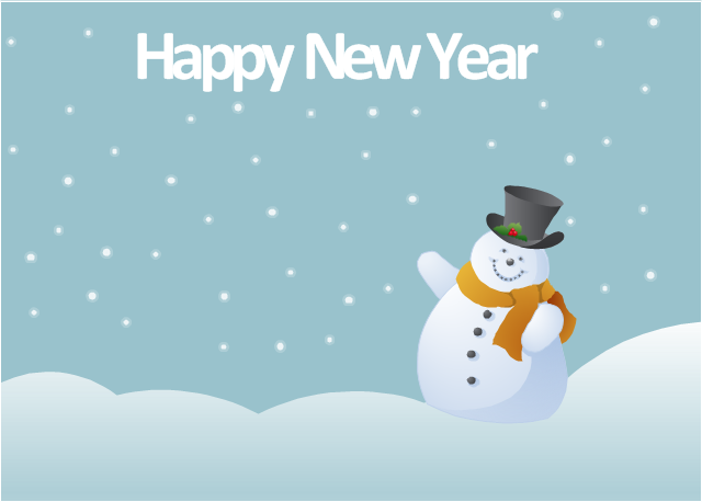 Vector illustration, snowman,