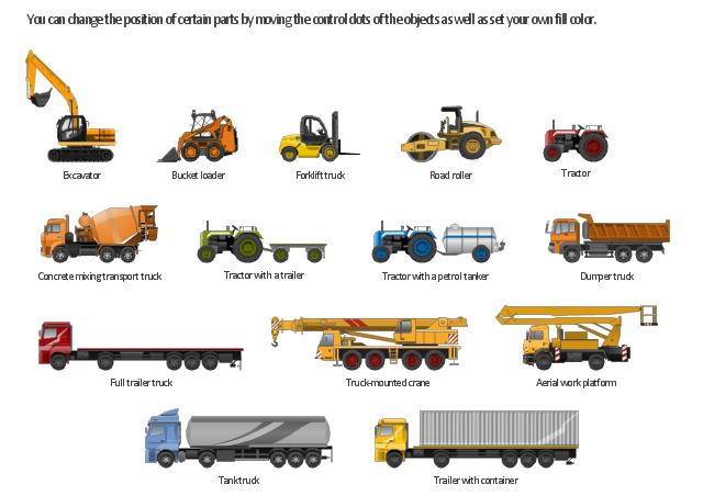 Industrial vehicles, trailer, container, trailer, tractor, trailer, tractor, petrol tanker, tractor, roller, petrol tanker, loader, excavator, dumper truck, concrete mixer, bucket loader, loader, autotower, autocrane,