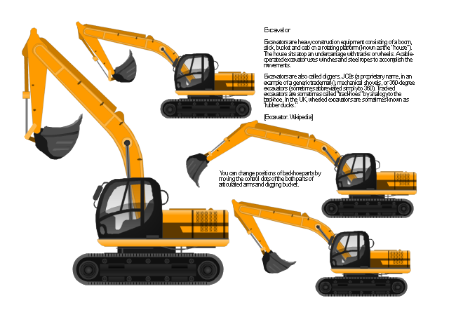 Pict Excavator Design Elements Industrial Vehicles Png Diagram Flowchart Example