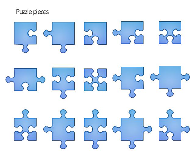 Vector clip art, puzzle,