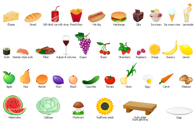 Vector clip art, watermelon, vine, wineglass, a glass of red wine, tomato, sushi, western-style sushi, sushi, sushi roll, sushi geta tray, sushi plate, sunflower seeds, strawberry, soft drink can with straw, soda can, straw, can, drink can, raspberry, potatoes, plum, plate, pear, peach, orange, onion, mushroom, meat, dish, lemon, ice cream, ice-cream, dessert, ice cream cone, ice-cream, hotdog, hot dog, hamburger, grapes, french fries, eggs, cucumber, cocktail, lemonade, chocolate cake, cake, dessert, cherry, cheese, carrot, cabbage, bread, banana, apricot, apple,