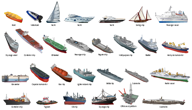 Vector clip art, yacht, tow, tug, tugboat, tracker, tow-line, tow-rope, tow-boat, submarine, sailing ship, ship, regular ship, reefer vessel, reefer, passenger vessel, passenger ship, oil tanker, tanker, oil ship, offshore oil platform, multipurpose ship, motorboat, lighter aboard ship, handysize bulk-carrier, gas ship, dry cargo vessel, dry cargo ship, container ship, car carrier, capesize bulk-carrier, boat, battleship,
