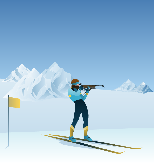 Clip art, biathlon, biathlon shooter,