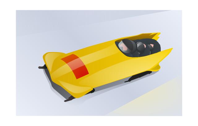 Clip art, bobsleigh,