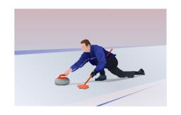 Clip art, curling,