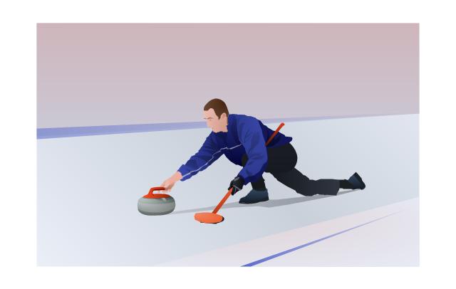 ,  winter sports vector clipart, Winter Olympics vector clipart, curling