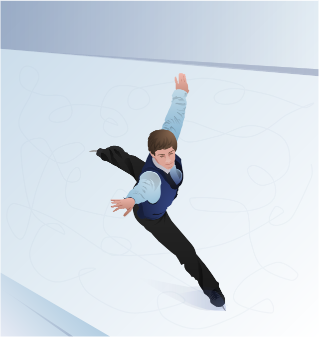 ,  winter sports vector clipart, Winter Olympics vector clipart, free skating, figure skating, figure skater
