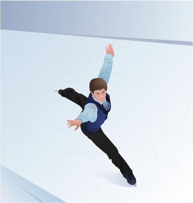 Clip art, figure skating, figure skater, free skating,