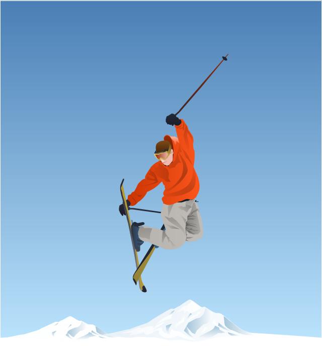 ,  winter sports vector clipart, Winter Olympics vector clipart, freestyle skiing, freestyle skier, freestyle