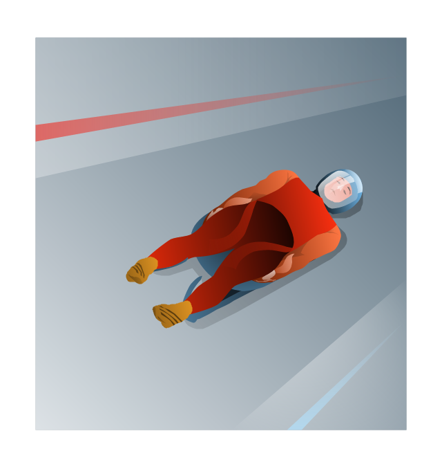 ,  winter sports vector clipart, Winter Olympics vector clipart, luge