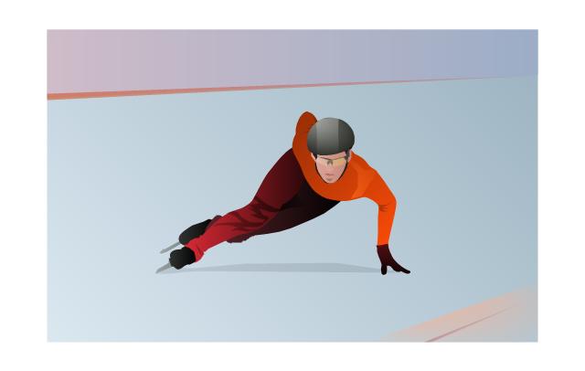 ,  winter sports vector clipart, Winter Olympics vector clipart, short track skater, short track