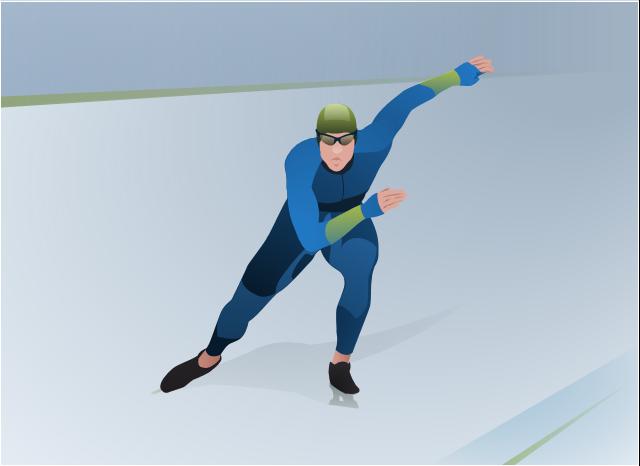 ,  winter sports vector clipart, Winter Olympics vector clipart, speed skating, speed skater