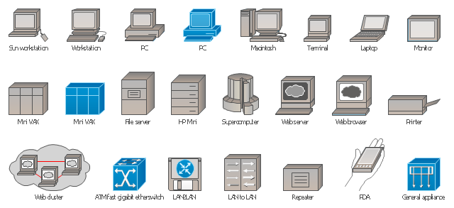 Cisco LAN symbols, workstation, terminal, supercomputer, repeater, printer, monitor, mini VAX, VAX, VSM, DECnet, laptop, general appliance, intelligence engine 2100 series, file server, application server, Web server, www server, Web cluster, Web browser, Sun workstation , PDA, PC, Macintosh, LAN2LAN, LAN to LAN, HP Mini, ATM fast gigabit etherswitch,