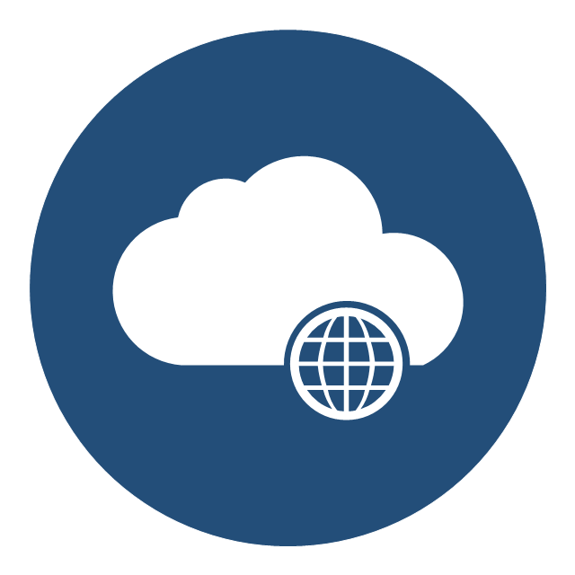 cloud round icons vector stencils library cloud round