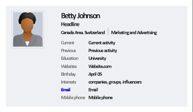User profile, woman,