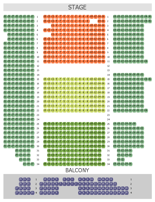 Seat layout, chair,