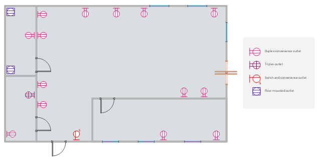Lighting And Switch Layout Design Elements Electrical Rhconceptdraw: Outlet Wiring Diagram Floor Plan At Gmaili.net