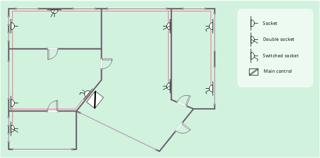 Power Socket Outlet Layout Network Layout Floor Plans Power