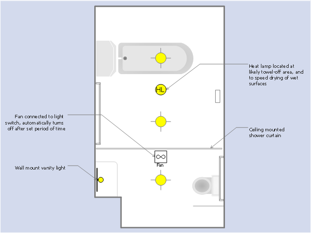 Reflected ceiling plan - The prototype bathroom design | Design elements - Bathroom | Interior ...