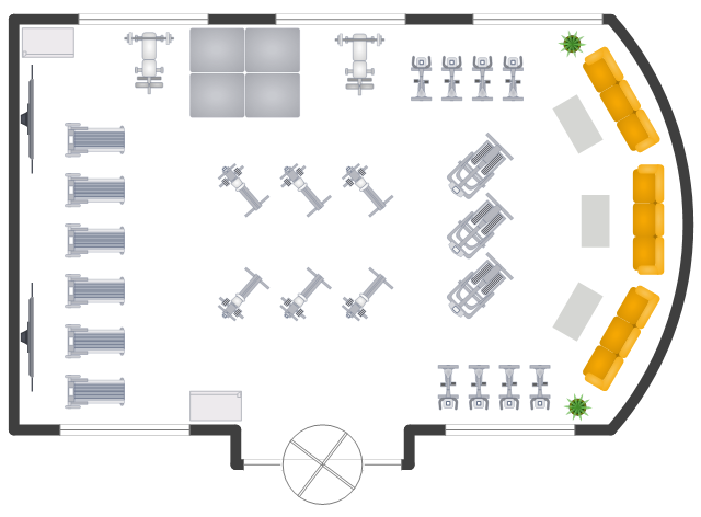 Gym layout plan : pict gym layout plan gym layout plan from conceptdraw.com size 640 x 472 png 69kB