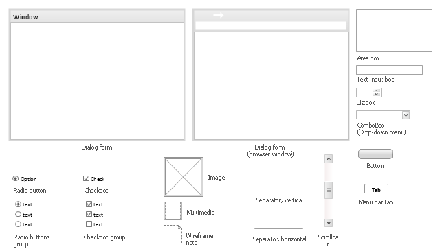 Design elements - Wireframe