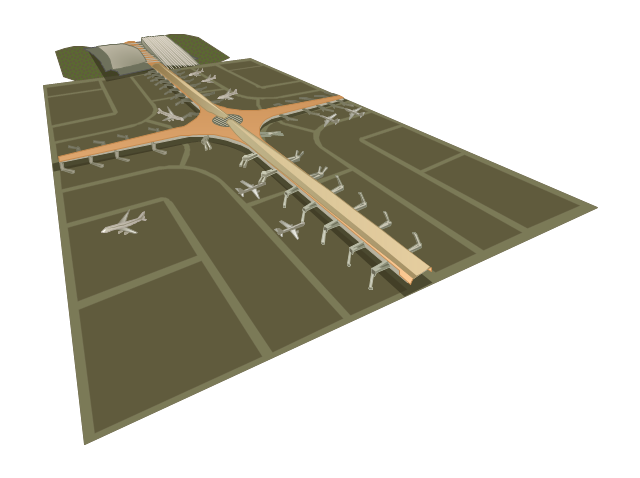 Airport terminals, airport terminals,