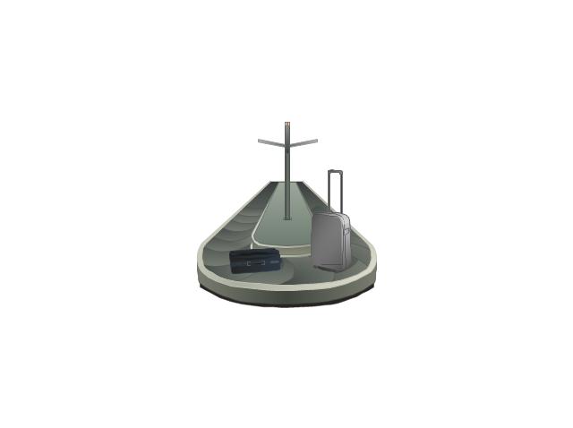 Baggage conveyor, baggage conveyor,