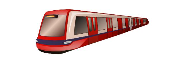 Subway train, subway, tube, metro, underground, train,