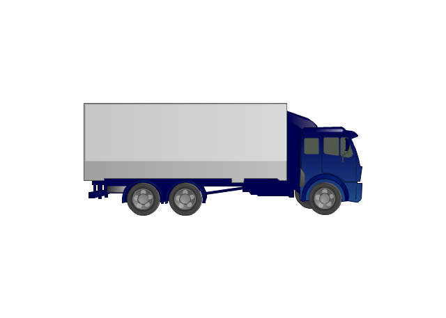 Pict Truck Road Transport Vector Stencils Library