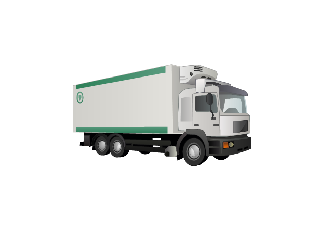 industrial vehicles vector stencils library transport refrigeration truck refrigeration truck