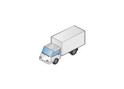 Box truck isometric, truck,