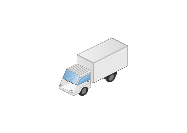 Box truck isometric, truck,