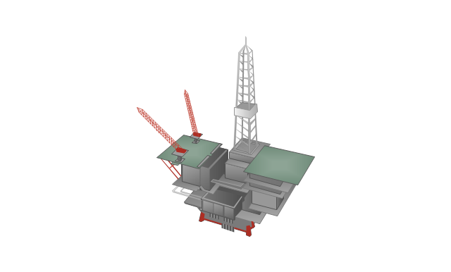 Offshore oil platform, offshore oil platform,