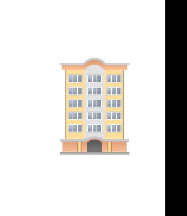 Apartment building, variable building,