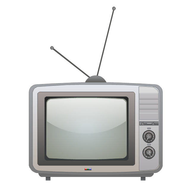 Television set, television, TV, set,