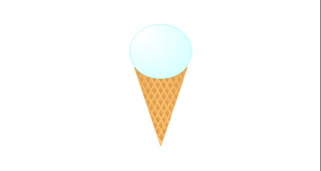 Ice cream cone, ice-cream,