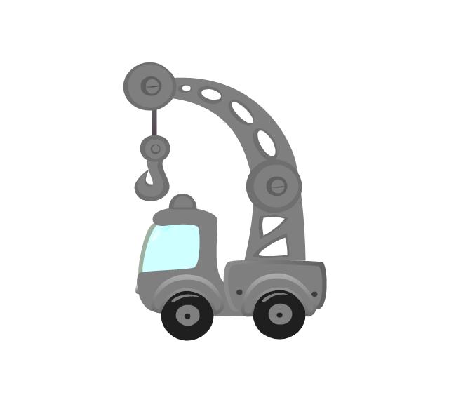 Truck crane, truck crane,