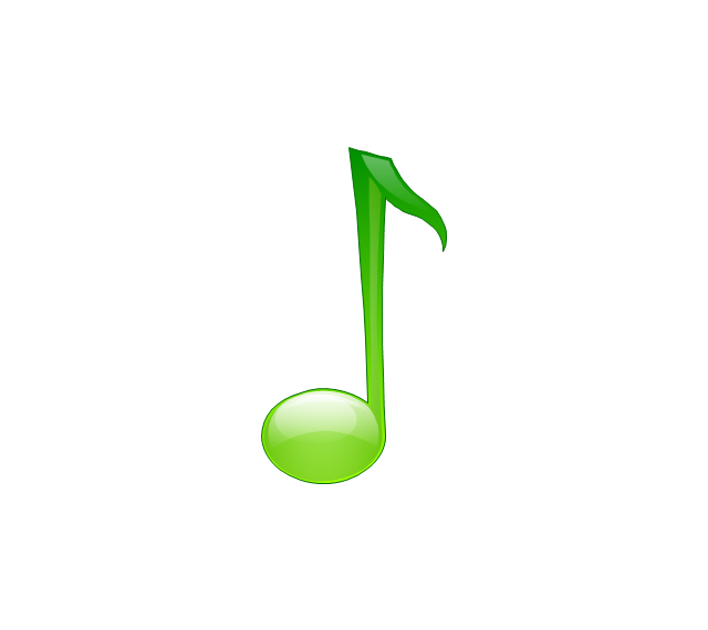 Eighth note, note, musical, sign,