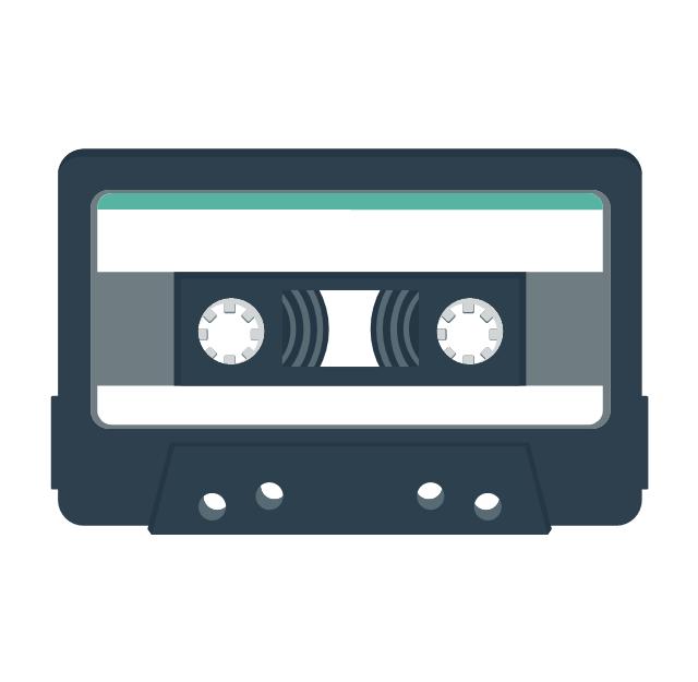 Audio cassette 2, audio cassette, audiocassette,
