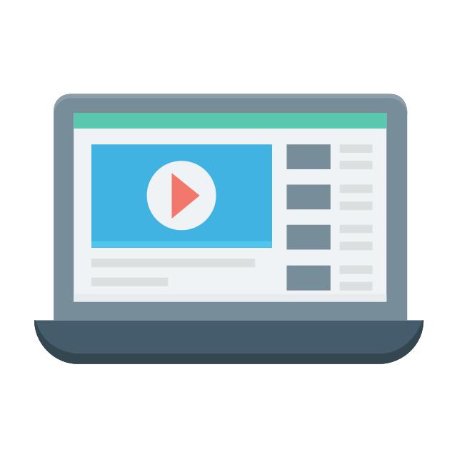 Online video, laptop, online video,