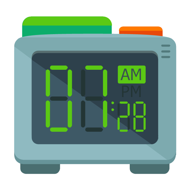 Digital clock, digital clock,