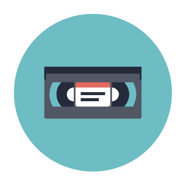 VHS, VHS, video cassette,