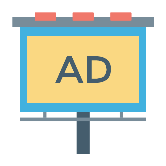 Advertising board, advertising board,