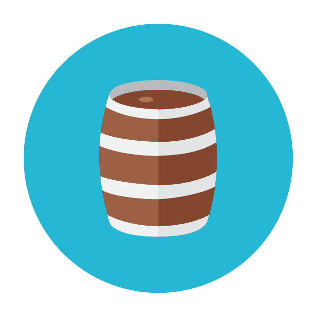 Wooden barrel, wooden barrel,