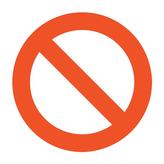 NO sign, no sign,