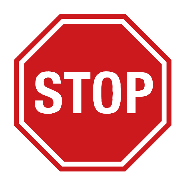 Stop sign, stop sign,